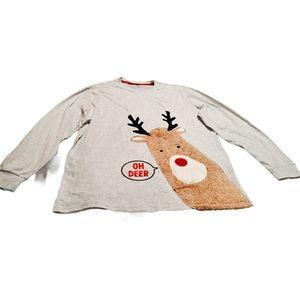 Oh Deer' Holiday Pajama Shirt